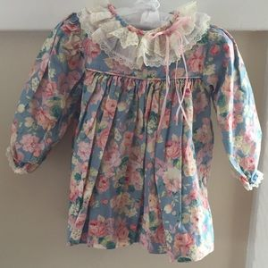 Other - Baby Girl Floral Dress with Ruffle Collar 24M